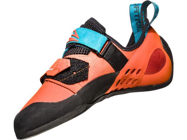 La Sportiva Katana Chaussons d'escalade Homme, tangerine/tropic blue